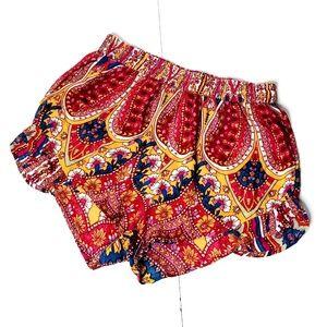 Billabong Red Pattern Shorts